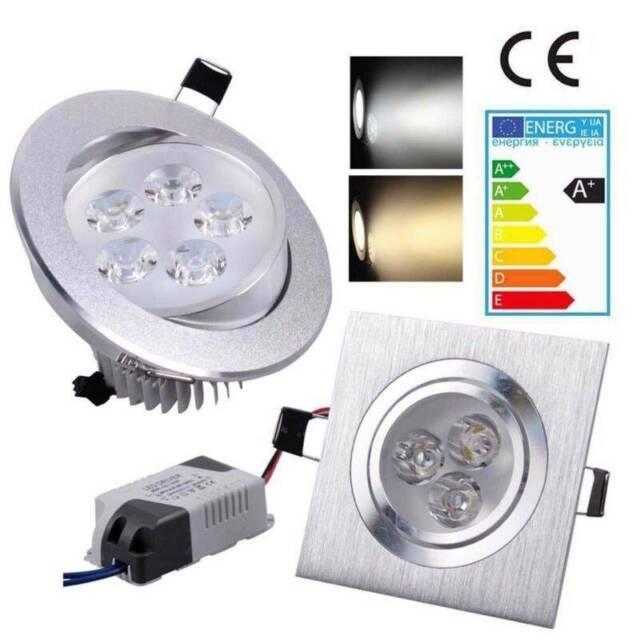 10/20x LED Einbaustrahler Einbau Strahler Deckenleuchte Spot Lampe mit Trafo