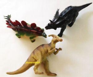 Appris 1980 S Dinosaure Figures Lot ~ Parasaurolophus, Stegosaurus, Triceratops ~ @ Look @-s, Stegosaurus, Triceratops ~ @look@ Fr-fr Afficher Le Titre D'origine ArôMe Parfumé