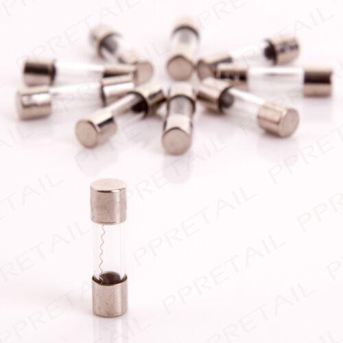5Pc MINI 20mm GLASS FUSE 1.6 Amp//250V For Car//Auto Stereo//Radio Or Standard TV