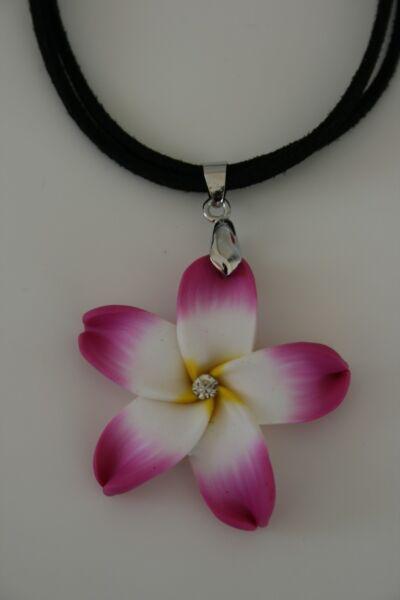 Hawaii Flower Anhänger Mit Glitzerstein