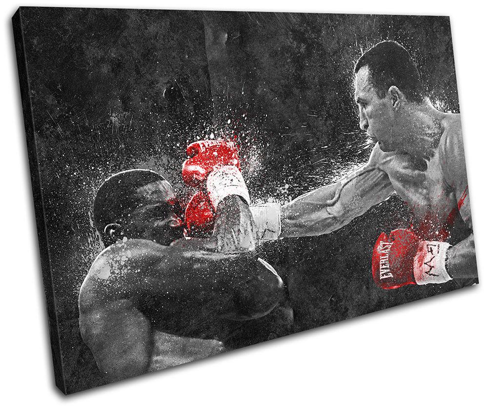 Wladimir Klitschko Boxing Grunge Sports SINGLE TOILE murale ART Photo Print