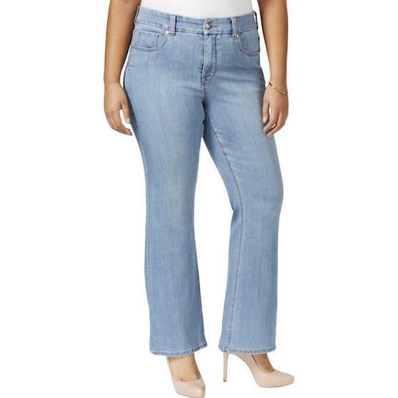 Seven7 Melissa McCarthy Women's Flare Jeans 22 Slimming Silhouette System Stella