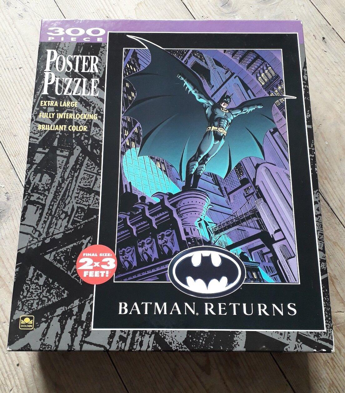 RARE 'BATMAN RETURNS  1992 Movie Poster Jigsaw Puzzle Size 2x3ft Unopened 300pc