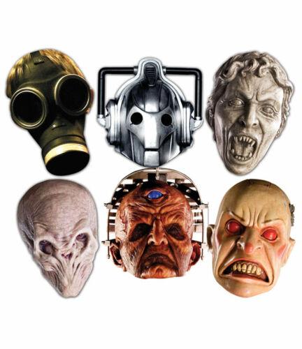 Doctor Who MOSTRI Halloween 2D Partito carta faccia Maschere varietà Set di 6