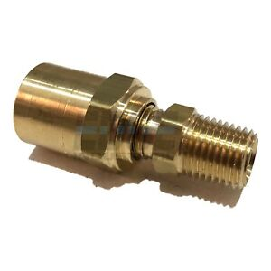 WOG AIR EDGE INDUSTRIAL 1//8 Hose ID to 1//4 Male NPT MNPT Straight Brass Fitting Fuel Qty 10 Gas Oil Water