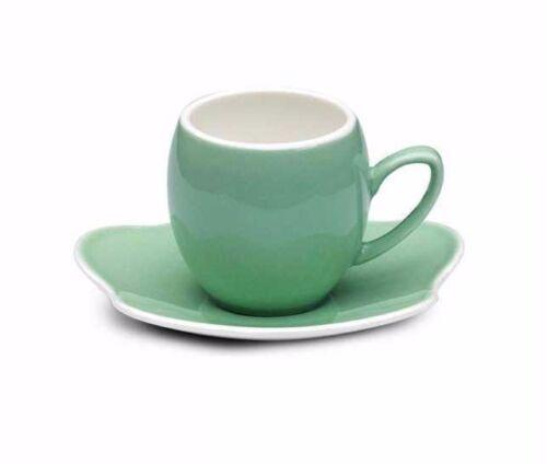 Korkmaz stara a8642 Hell vert fine bone porcelain Moka tasses 6er set
