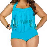 Plus Size Womens High Waist Push Up Bikini Set Swimwear Beach Swimsuit Bathing