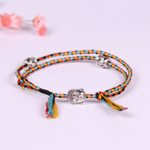 Women Tibetan Buddhist Lucky Woven Amulet Tibetan Cord Bracelets /& Bangles Gift~
