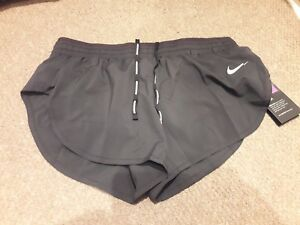 "Details about Womens NIKE FLEX 3"" Running Shorts Black Size Medium"
