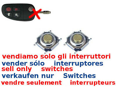 2 X Tasti Interruttori Ricambio Switch Telecomando Jaguar S-type Xj8 Xjr Xj Xk S