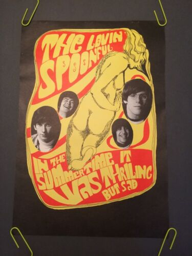 The Loving Spoonful vintage poster Konst 1960s Summertime Thrilling Sad Pin-up