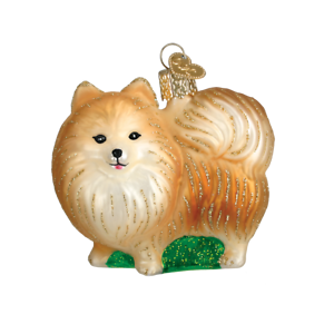 Old-World-Christmas-POMERANIAN-Standing-12346-N-Glass-Ornament-w-OWC-Box