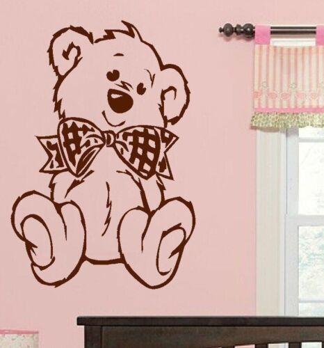 Grande nursery bébé Teddy Bear Mur Autocollant Art Autocollant Transfert 100/% de la charité