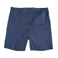 Mens Scott Barber Italy Navy Vintage Washed Flat Front Cotton Shorts 44 $145