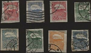 Estonia, 1920, SC 39-46, used. c4150