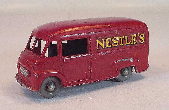 Matchbox regular Wheels nº 69 a Commer 30 cwt van nestle's rosso gpw 1