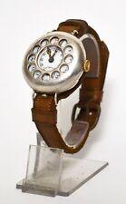 WW1 Silver Scharpnel Guard TRENCH WRIST WATCH // Working !! [PL1983]