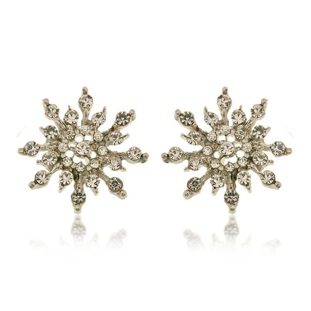 Fashion Women Snowflake Jewelry Full Crystal Ear stud Earrings Fashion Gift New