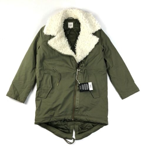 Manteau Gap pour Primaloft 922500 Manteau vert fausse Nwt femmes de Xs doublé olive fourrure dwawCxn