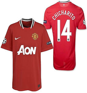 Image is loading NIKE-CHICHARITO-MANCHESTER-UNITED -UEFA-CHAMPIONS-LEAGUE-HOME- d9b79bd54