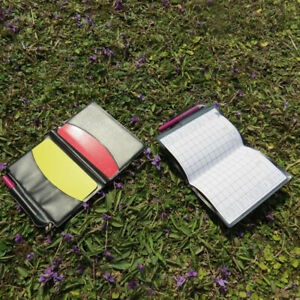 Referee-Cards-Volleyball-Football-Sport-Wallet-Score-Notebook-Pencil-Set-RE
