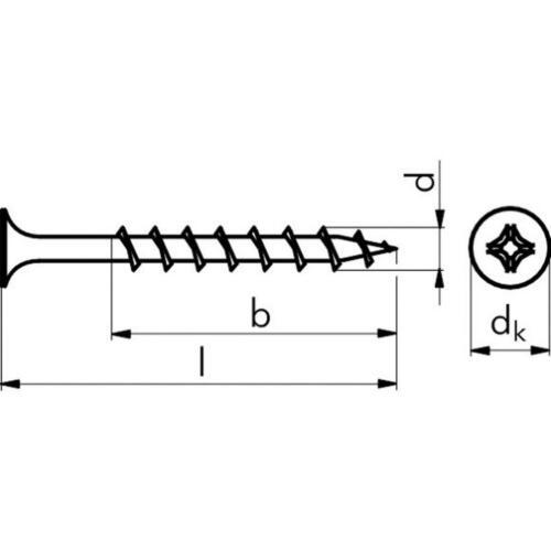 Einganggewinde 1000 Stk ACP Gipsplattenschrauben 3,9x35mm Grobgewinde