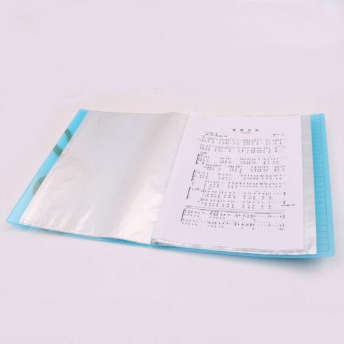 40 Blatt A4 Größe Musikordner Notenhalter Notenmappe Dokumente Halter,