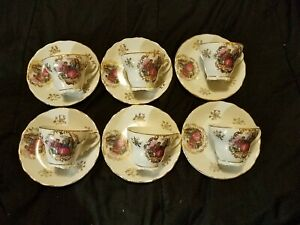 Lot-of-Royal-vienna-demitasse-Renaissance-style-Cups-And-Saucers