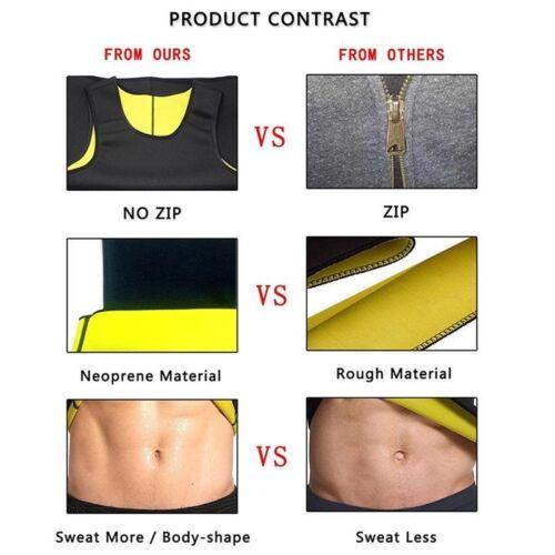 Sauna Suit Tank Top for Men Workout Vest Gym Shirt Shaper Neoprene Help Sweat UK