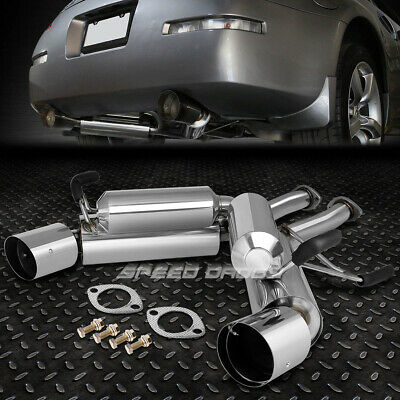 "DUAL 4.5/"" BURNT TIP RACING CATBACK EXHAUST SYSTEM FOR 03-09 350Z Z33 Z//G35 V35"