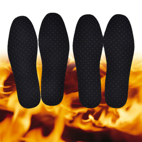 1Pair Bamboo Charcoal Warm Tourmaline Self Heated Shoes Insoles Foot Pad PIB$