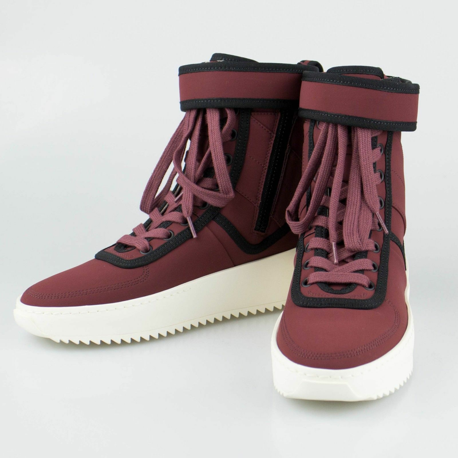 NIB FEAR OF GOD 'Military Sneaker' Burgundy Hi-Top Sneakers shoes 8 38  1120