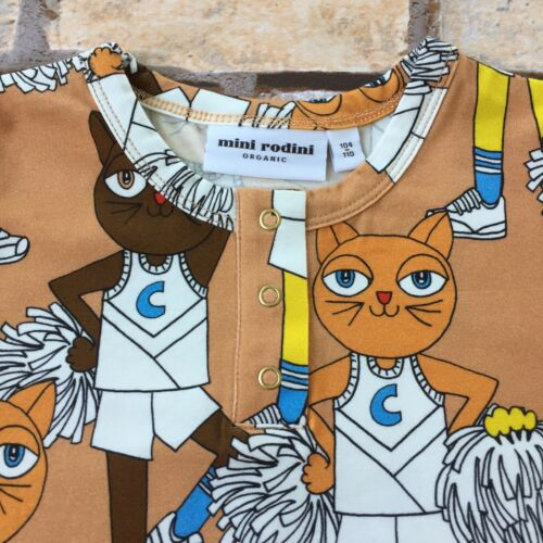 104-110 Cm Mini Rodini Cheer Cats Shirt