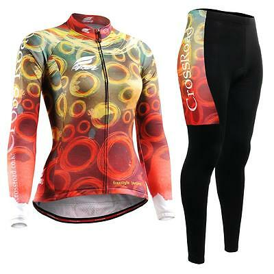 FIXGEAR CS-W401-SET Women's Cycling Jersey & Padded Pants MTB Bike BMX Roadbike