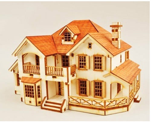 Country house   Wooden model kit   youngmodeler