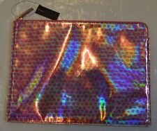 bnwt Marc by Marc Jacob pink iridescent clutch bag