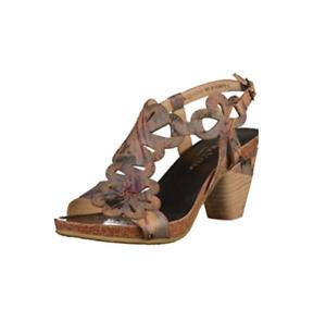 Laura Vita Dax 20 Noir Vintage France Style Leather Heel Sandal Adjustable Strap