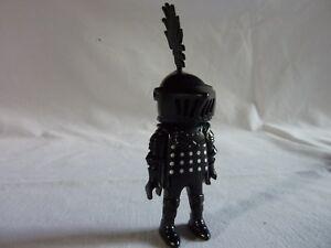 PLAYMOBIL chevalier noir  chateau moyen age