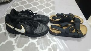 Boys nike football trainers and navy