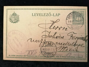 Ungarn-15-07-1916-Postkarte-Ganzsache-LEVELEZO-LAP-nach-Wien