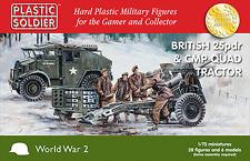 Plastic Soldier 1/72 British 25pdr & CMP Quad Tractor # WW2G20007
