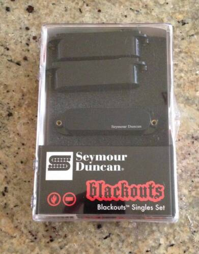 2 modes Seymour Duncan Fender Strat BLACKOUTS Set Active EMG style Pickups