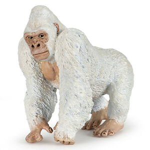 Papo 50204 albino white gorilla model wild jungle animal figurine toy 2016 nip ebay - Gorilla figurines ...