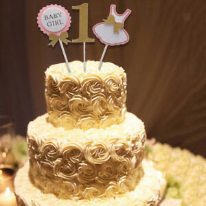Image Is Loading Cute BABY GIRL 1st Birthday Cake Topper Kids