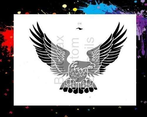 American Eagle 01 Airbrush Stencil Template
