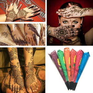Natural-Herbal-Henna-Cones-Temporary-Tattoo-Art-Mehandi-Ink-Body-Paint-Kit-NEW-B