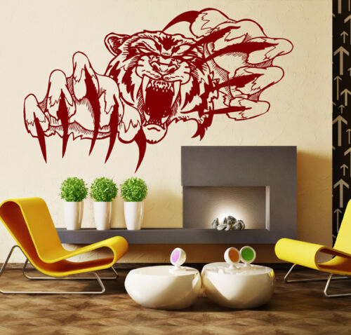 WALL STICKERS TIGER Vinyl Wall Art Decal Home Wall Decor WALL QUOTE STICKERS N13