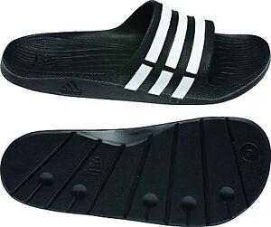 Adidas Duramo Slide Badeschuhe G15890 Badelatsche,  schwarz/weiss Gr.39-51