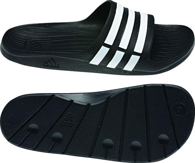 buy popular 6f5bd 8a6f6 Adidas Duramo Slide Badeschuhe G15890 Badelatsche, schwarzweiss Gr.39-51