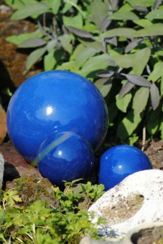 Kugel,Rosenkugel,Gartenkugel,in tollem Blau,frostfest;3er Set; 2X12cm+ 1 X 22cm